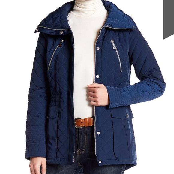 2e3346f7362 BCBGeneration Jackets & Blazers - BCBGeneration Missy Diamond Quilted  jacket navy